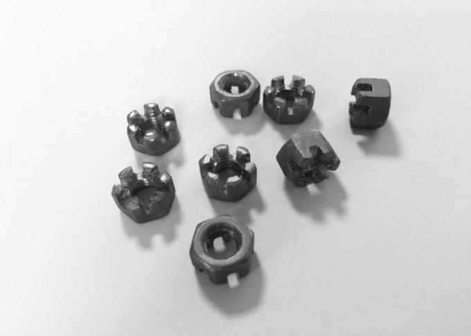 Primary Color Hexagon Slotted Nut , Custom Made M6 Castle Nut 1mm Pitch