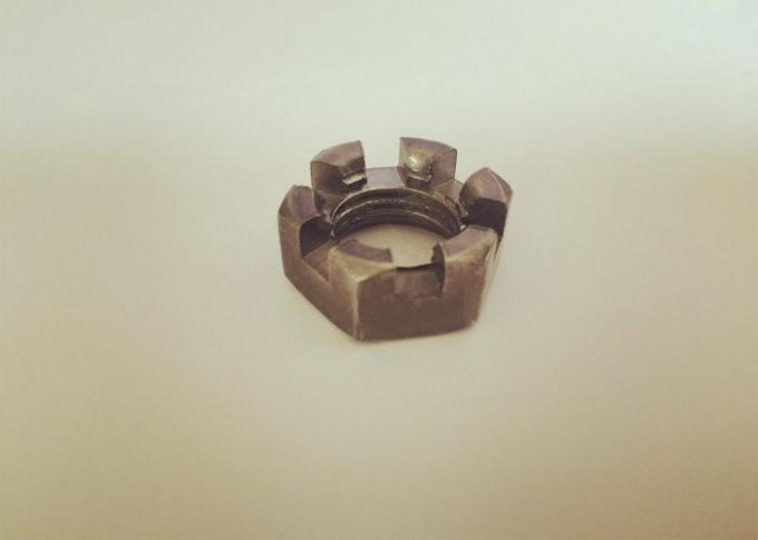 Primary Color M20 Castle Nut , Slotted Hex Nut M20 X 2.5 Untreated Surface Treatment