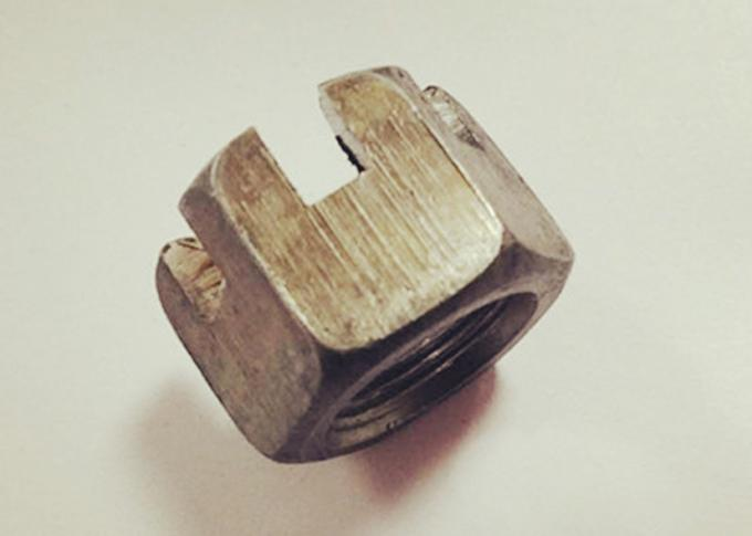 High Precision GB58 Hexagon Slotted Nut , M20x1.5 Castle Nut For Building