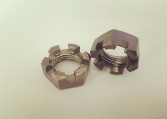 China Primary Color M20 Castle Nut , Slotted Hex Nut M20 X 2.5 Untreated Surface Treatment supplier