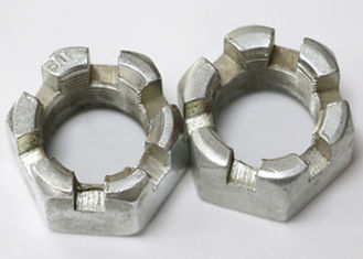 China Hexagon Slotted Metric Castle Nuts , Hardware Fasteners Heavy Hex Jam Nut supplier