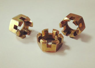 China High Precision Hexagon Slotted Nut M14x1.5 For Needing Pre Tightening Force Place supplier