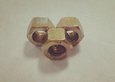 China Yellow Zinc Plated M6 Hex Nut 7mm Thickness With Relatively Large Fastening Force factory